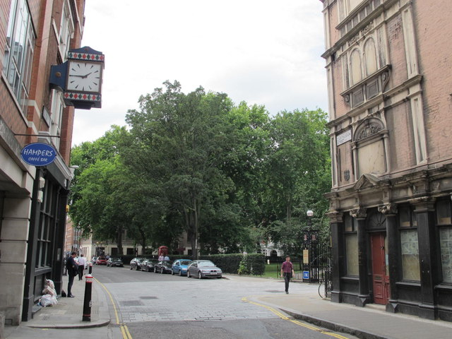 Cathusian Street and the southern end of Charterhouse Square, EC1