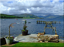 NS0767 : Old pier at Port Bannatyne by Thomas Nugent