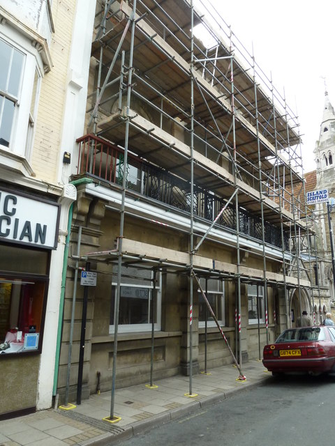 Scaffolding in the High Street