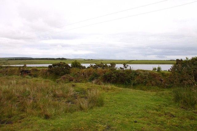 Looking over moorland to Dozmary Pool