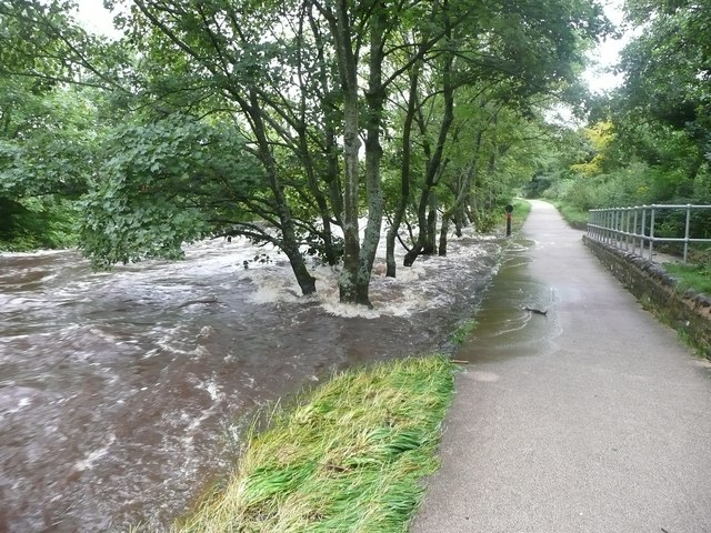 River Ribble in spate, Settle