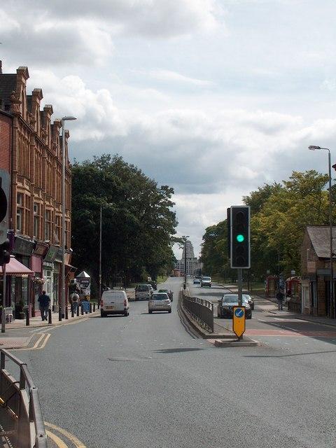 Hyde Park Corner - View towards Leeds University
