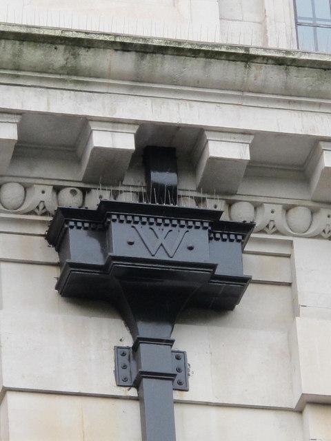Drainpipe hopper on the Willett Building, Sloane Square, SW1