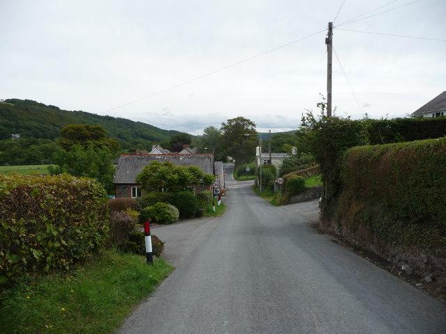 Near the crossroads in Llanfarian