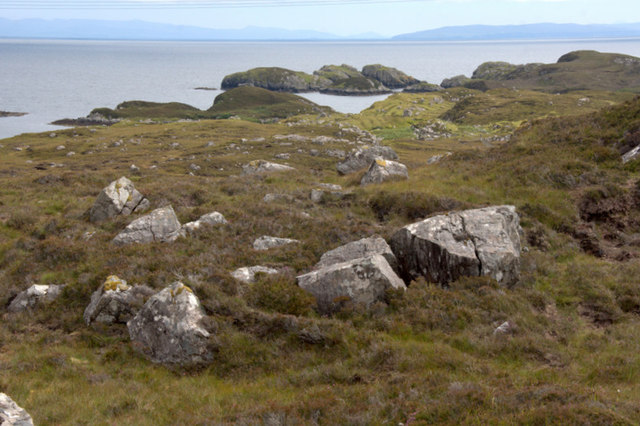 View down to the coast at Lingerbay (Lingreabhagh)