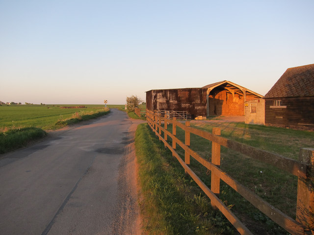 Ashwell Road past Half Way Farm