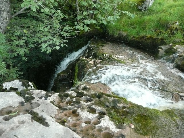 Catrigg Force, the top of the upper fall