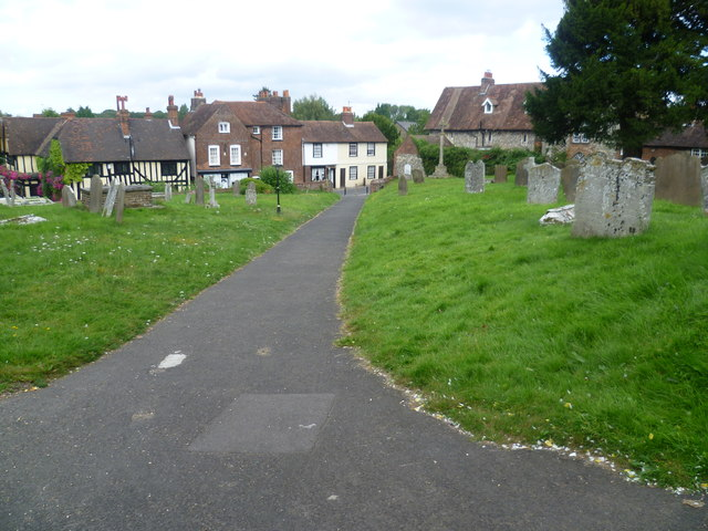 Church path to St Mary Magdalene, Cobham