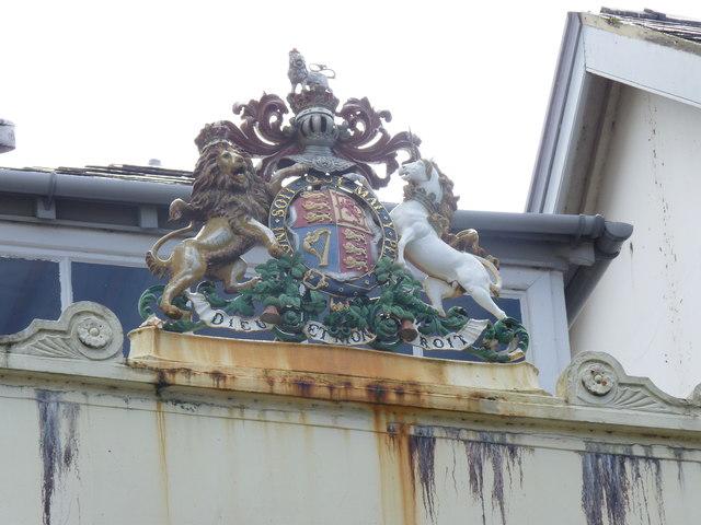 Coat of Arms on the main post office, Caernarfon
