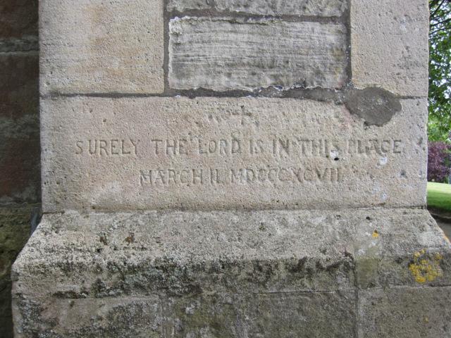Inscription on St Oswald's, Flamborough