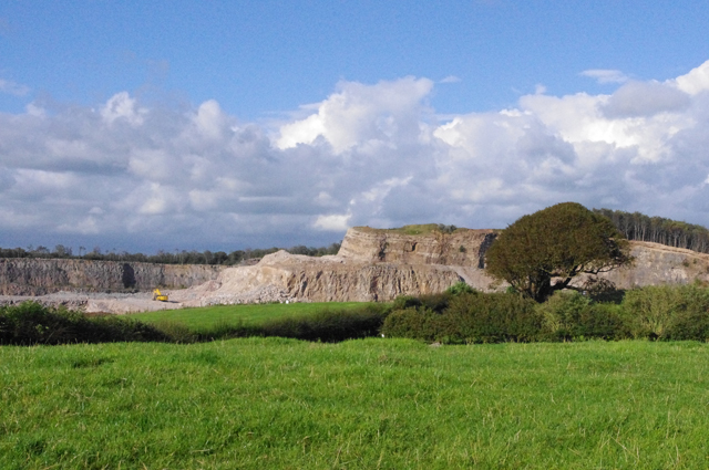 Grazing land and quarry