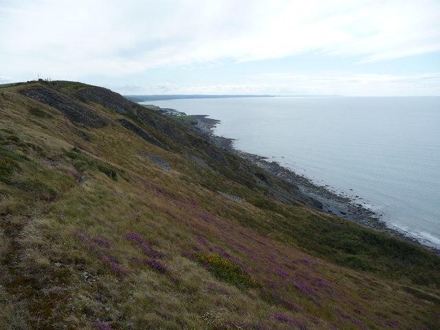 On the coastal path looking towards Morfa Bychan