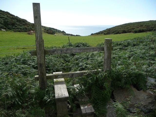 Stile near Sunnyhill above Morfa Bychan