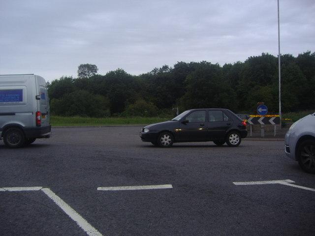 Roundabout on Hitchin Road, Luton