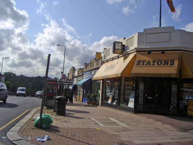 Shops by Totteridge station