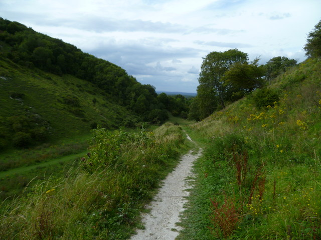 The bridleway on the southern slope of Devil's Dyke