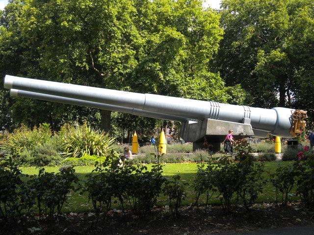 Gun turrets, Imperial War Museum Gardens, Lambeth Road SE1