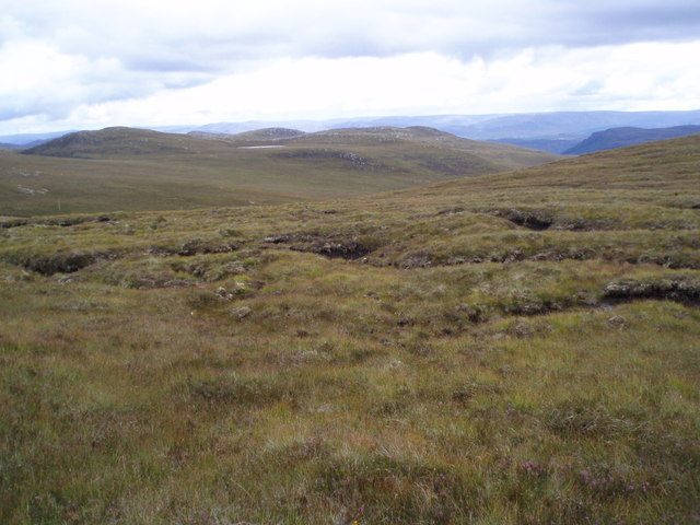 Looking East from Meall nan Aighean plateau