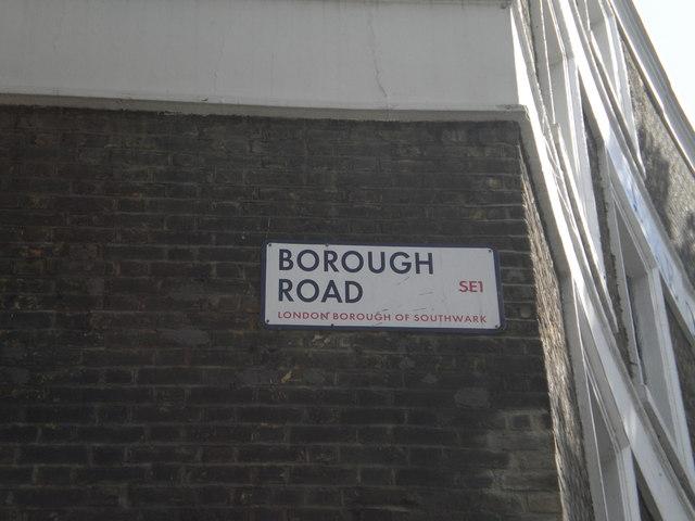 Street sign, Borough Road SE1