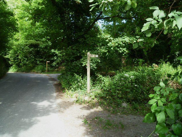 Two bridleways leave the road near Poynings church