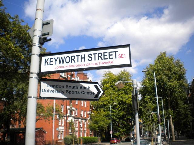 Street signs, Borough Road SE1