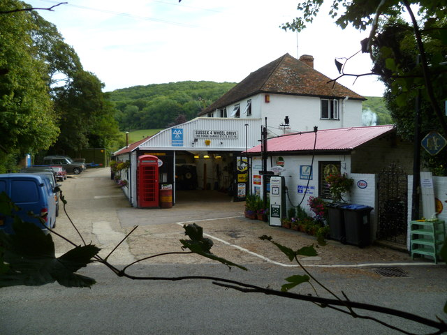The garage at Poynings