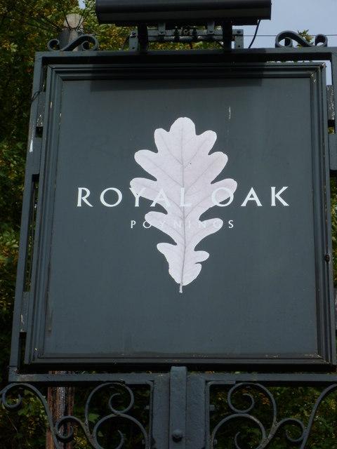 "Sign at ""Royal Oak"" in Poynings"