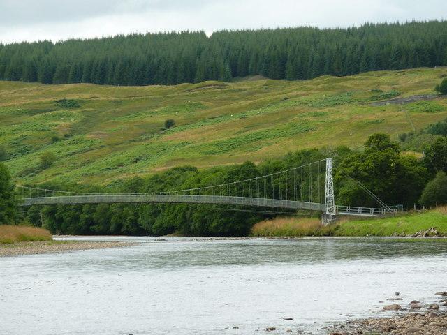 Footbridge across the River Oykel