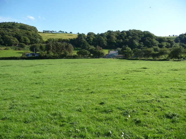 Rhyd-tir-isaf farm in the Clarach valley