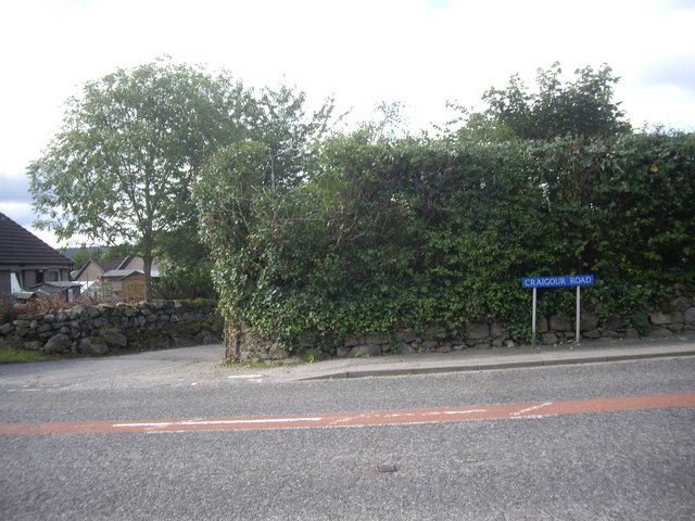 Junction of Inchley Terrace with Craigour Road