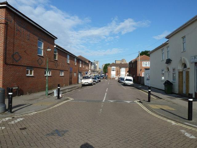 Looking eastwards along Durnford Road