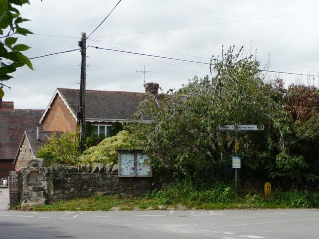 The centre of Bitterley