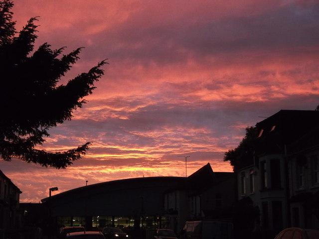 Sunset over Aldi Gillingham