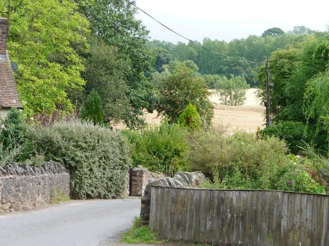 The eastern edge of Bitterley