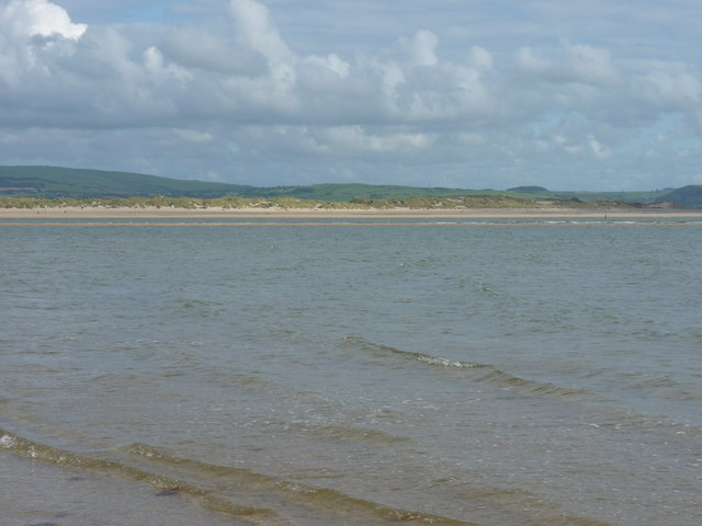 Across the incoming tide to a small sandbank
