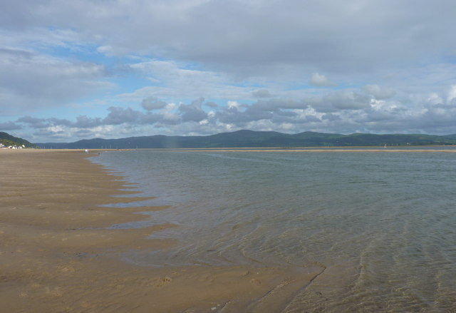 Incoming tide in the Dyfi estuary