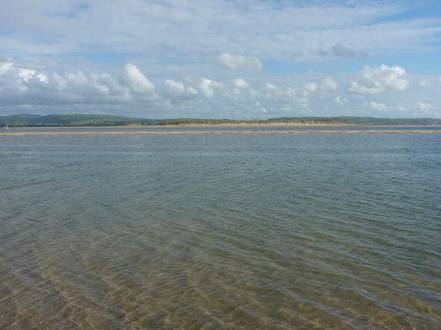 A small offshore sandbank