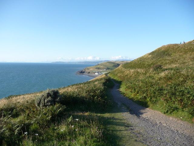 Part of the Ceredigion Coast Path above Clarach Bay