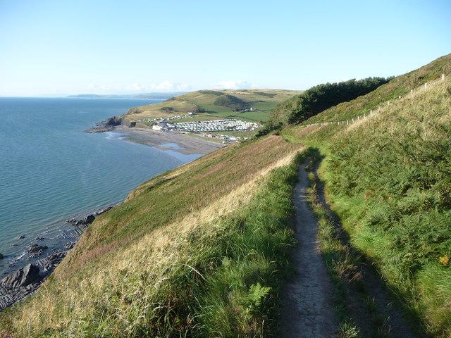 The coast path above Clarach Bay