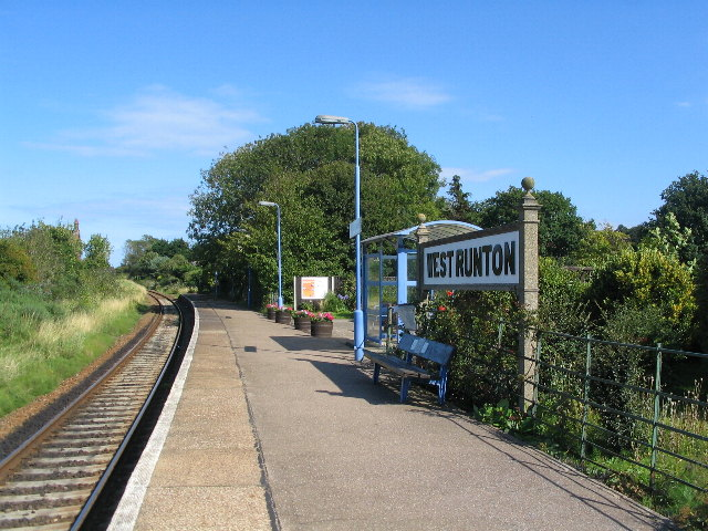 West Runton station platform