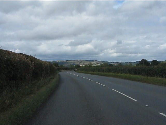 Curving along the A4110