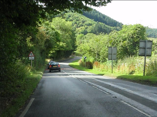 A4110 heading north from Wigmore