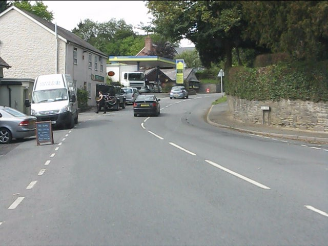 Entering Leintwardine from the south (A4113)