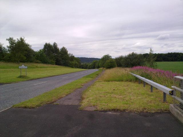 View down Mill Lane