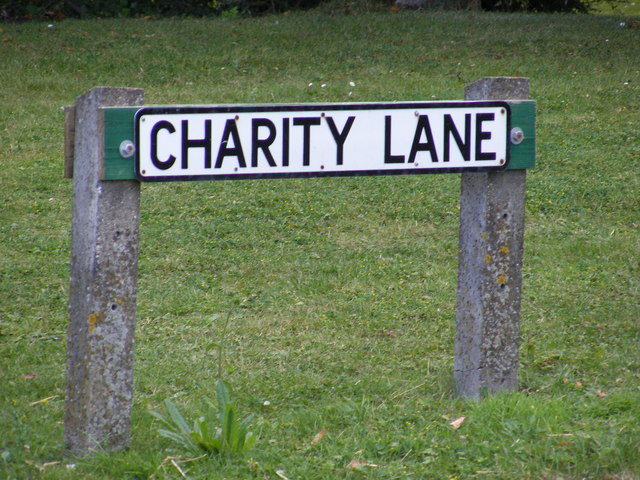 Charity Lane sign