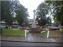 TL1314 : War memorial on Church Green, Harpenden by David Howard