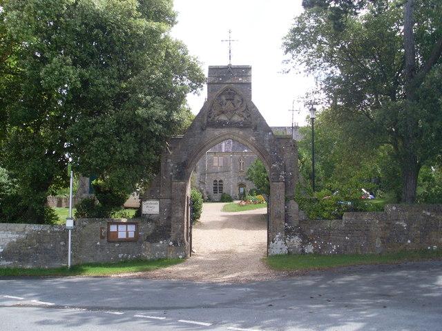 Gateway to Carisbrooke Priory, IoW