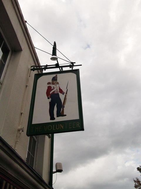 The Volunteer Pub Sign, Bexley