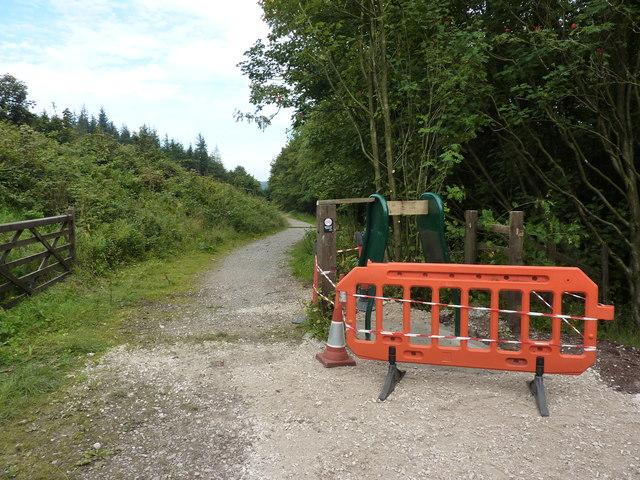 Gate repairs in Macclesfield Forest