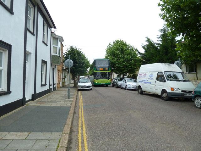 Bus in Fitzroy Street